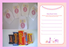 Sale couches/diaper-rose/fille baby shower game & joueur feuilles