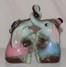 Vintage Norcrest Elephant Salt and Pepper Shakers Made in Japan