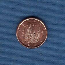 Espagne - 2011 - 1 centime d'euro - Pièce neuve de rouleau -