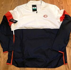 Men's Chicago Bears Nike NFL Dri-Fit Repel 1/2 Zip Jacket Large AO4228-100