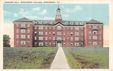 MIDDLEBURY, VT Vermont  MIDDLEBURY COLLEGE~Hepburn Hall   c1920's Postcard