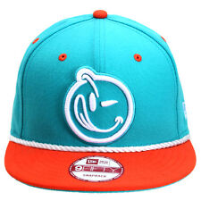 NEW AUTHENTIC YUMS New Era Classic Outline Mint/Orange/White Snapback 384S