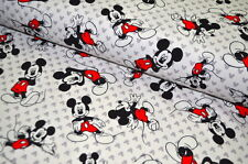 JERSEY DISNEY MICKEY MOUSE USA Designerstoff  0,5 m  MICKEY MOUSE RETRO A