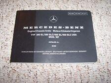 1979 Mercedes Benz 450SL 450SLC 450 SL SLC Engine Chassis Parts Catalog Manual