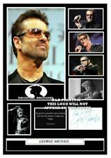 (##93) george michael signed a4 photo/mounted/framed (reprint) ######