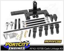 Aeroflow Dual Carb Blower Linkage Kit Holley 4150 Series Black AF42-1070BLK