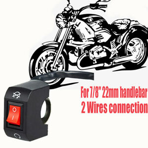 """Motorcycle Fog Light Flip ON/OFF Switch 2 Wires Universal For 7/8"""" Handlebar"""