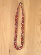 FairTrade Classic Quirky Choker Necklace New Boho Multicolour Glass Beads Lovely