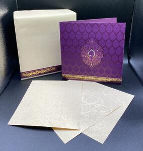 10 Wedding Engagement Party Invitation Cards Purple Wedding Blank Invitations
