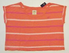 New Womans Hollister Abercrombie Tee Shirt Cropped Little Harbor Size M / L