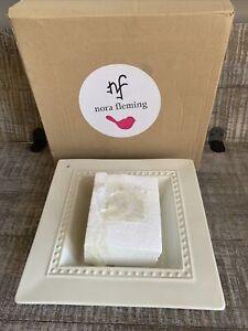 Nora Fleming Square Napkin Holder Candy Dish Pearl Dot M5 HTF Retired NEW NIB
