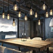 Vintage Ceiling Lamp Retro Pendant 12 Arms Spider Salon Dining Room Bar Restaura