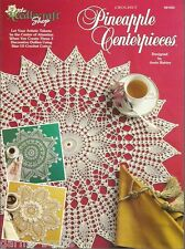 Pineapple Centerpieces Josie Rabier Crochet Table Toppers Doilies Patterns NEW