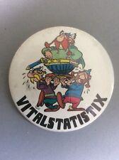 Vtg Og Asterix Vitalstatistix 55mm Pin Metal Badge Dargaud Editeur 1978 Cartoon