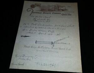 1941 Fontenelle Brewing Company, Omaha, Nebraska Vintage Letterhead