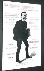 CPA CARTE POSTALE 1909 PUBLICITE CARNINE LEFRANCQ A. BRIAND MINISTRE JUSTICE
