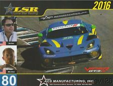2016 Lone Star Racing Dodge Viper GT3-R GTD IMSA WTSC postcard