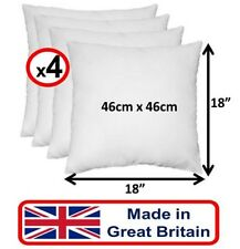 """4 PACK 18"""" Inch White Comfy Cushion Pad Inner Inserts Filler Sofa Bed Chair - UK"""