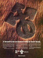 1980 Master Mix Central Soya Beef Feeds Print Ad