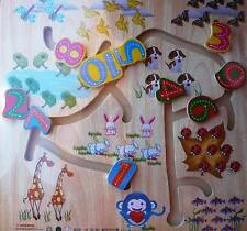 BN WOODEN NUMBER MOVING PUZZLE - GR8 GIFT IDEA