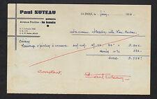 """LA BAULE (44) PEINTRE en BATIMENT """"Paul SUTEAU"""" en 1956"""