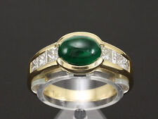 Traumhafter Smaragd Ring mit Diamanten ca. 2,05ct