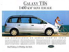 PUBLICITE  1996   FORD  GALAXY TDI turbo diesel