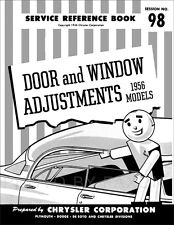 1956 Chrysler and DeSoto Hard Top 4 Door Window Adjustment Manual De Soto