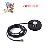 90MM BNC Magnetic Base Magnet VHF/UHF Antenna Mount 5M Cable For Motorola Radio