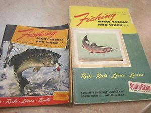 VINTAGE SOUTH BEND FISHING CATALOGS 1 1949 AND 1  1953