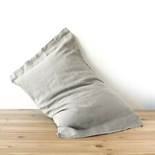 100% linen pillowcase linen PILLOWCASE HALF-OFORD stonewashed linen queen