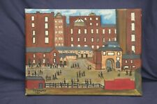 Old Vintage Oil Painting. Signed ( LS Lowry)