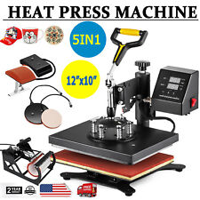 "12""x10"" 5IN1 Combo T-Shirt Heat Press Transfer Machine Sublimation Swing Away"