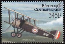 Primera Guerra Mundial Raf/RFC Sopwith Camel Sello de aviones de combate (2000 República Centroafricana)