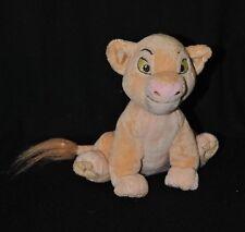 Peluche doudou Simba le roi lion DISNEY STORE saumon beige 18 cm assis TTBE