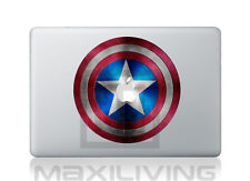 "Hülle Case Aufkleber Sticker Schutzfolie Apple Macbook 15""  Captain America"