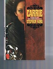 Carrie, a novel of a girl with a frightening power by Steven King HC DJ  1974