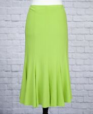 Joseph Ribkoff Long Green Skirt 16-18 Lime Maxi Stretchy Fishtail Flippy Long