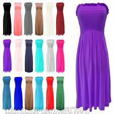 New Ladies Women's Strapless Sheering Boob Tube Dress Gather Bandeau Fashion Top