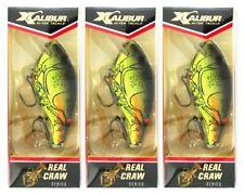 (3) Xcalibur Real Craw Series Square Lip Crankbaits Silent Moss XCS200CF02
