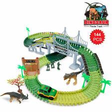Rennbahn Autobahn Kinder Car Track mit Tracks Auto und Dinosaurier  Spielzeug de
