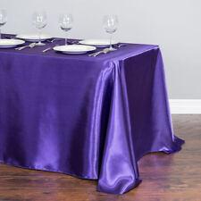 145x304cm Satin Tablecloth Rectangle Table Cover Cloth Wedding Party Banquet Dec