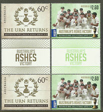 AUSTRALIA 2014 ASHES VICTORY THE URN RETURNS SERIES 5-0 GUTTER PAIRS MUH (No 1)