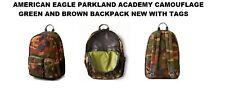 PARKLAND ACADEMY CAMOUFLAGE GREEN-BROWN BACKPACK (AMERICAN EAGLE) NEW WITH TAGS