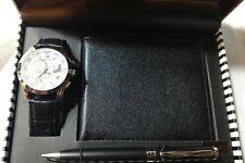 Mens Cote D'Azur Watch, Wallet & Pen Box Set NEW