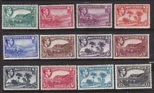 MONTSERRAT 1938-48 KGVI BASIC DEFINITIVE SET MINT, TOP VALUES NEVER HINGED