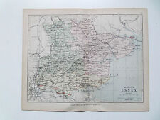 ESSEX-ANTIQUE PHILIPS MAP DATED 1890  APPROX 7inx 9in