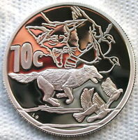 South Africa 2006 Black Backed Jackal 10 Cents Silver Coin,Proof