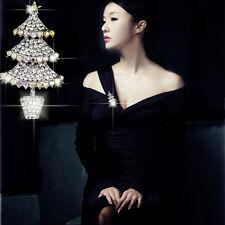 AB Crystal Rhinestone Brooch Xmas Costume Christmas Tree Pin Breastpin Jewellery