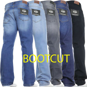 Mens Bootcut Leg Jeans Regular Stretch Basic Denim Pants Limited Time Offer